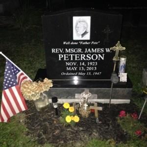 Msgr Peterson's grave