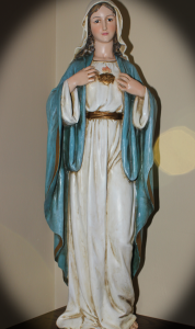 Saint M statue