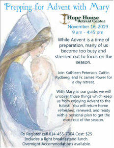 Prepping for Advent with Mary